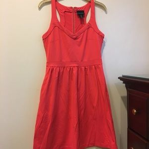 Cynthia Rowley Coral Racerback Skater Dress